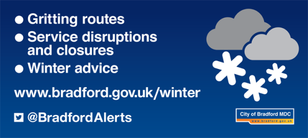 Gritting routes and other winter weather information on the Bradford Council website