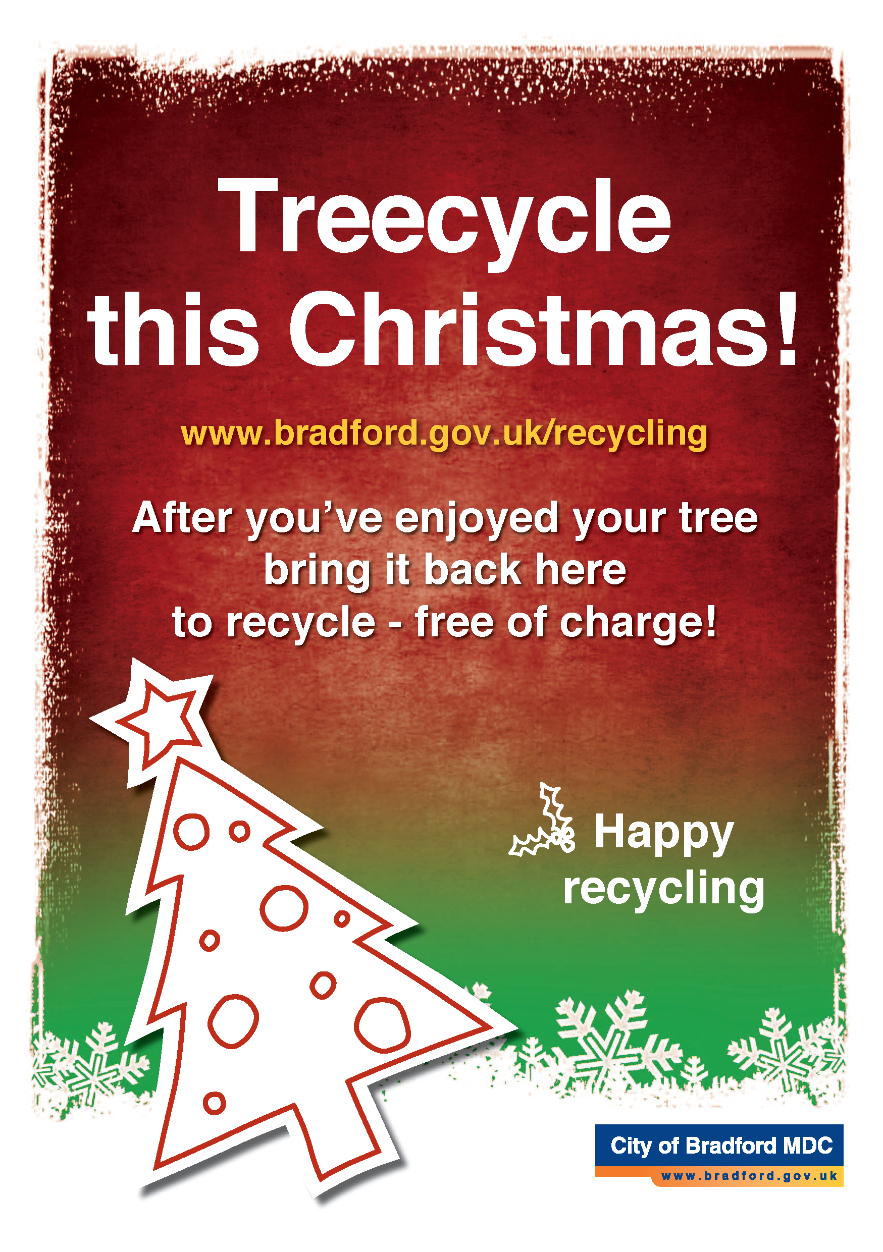 Christmas Tree Recycling Uttlesford : Bin days and recycling over christmas new year