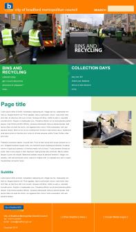Design 2: content page (desktop)