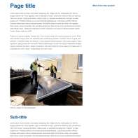 Design 1: content page (desktop)