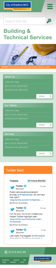 Design 1: service page (mobile)