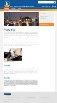 Design 3: content page (desktop)
