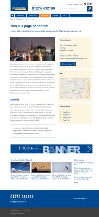 Design 5: content page (desktop)