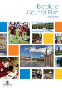 Bradford Council plan front page