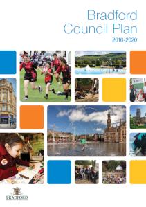 Bradford Council plan front page