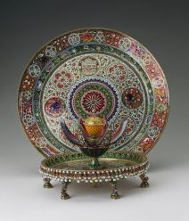 Enamelled Gold plate and attardan from the Royal Collection Trust.