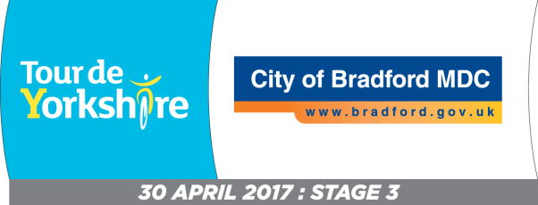Tour de Yorkshire and Bradford Council logos