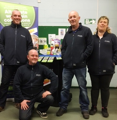 Waste and recycling advisors helping with the changes to bin collections
