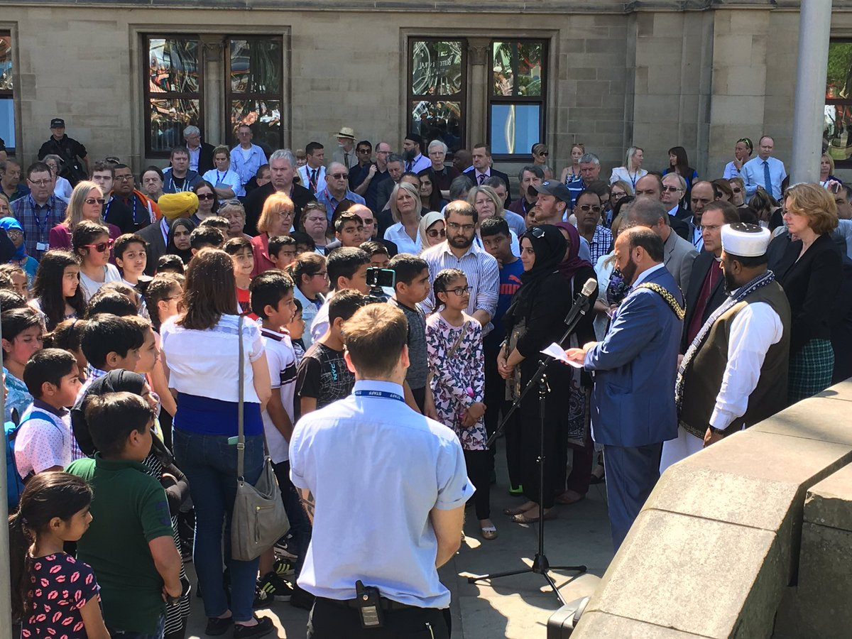 Bradford remembrance after Manchester bombing